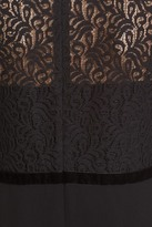 The Kooples Lace Overlay Crepe Dress
