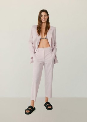 MANGO Straight suit pants light pink - 2 - Women