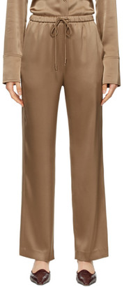 Nanushka Brown Satin Tupsa Lounge Pants