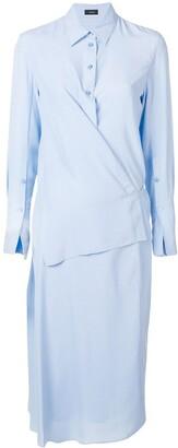 Joseph wrap-detail shirt dress