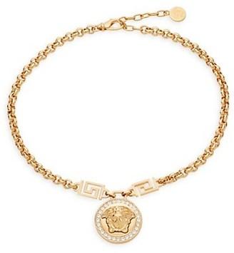 Versace Medusa Crystal Necklace