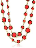 "Anne Klein Beacon"" Gold-Tone Red Strand Necklace"