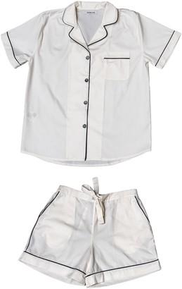 Phriya Women's White Classic Short Pajama Set