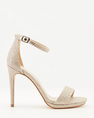 Le Château Glitter Mesh Ankle Strap Platform Sandal