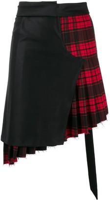 Unravel Project Deconstructed Tartan Skirt