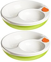 Lansinoh mOmma Mealtime Warm Plate, Green, 2 Count