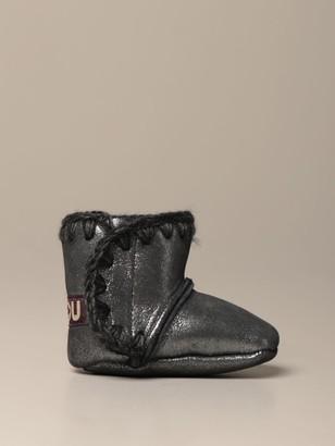 Mou Eskimo Infant Ankle Boot In Micro Glitter
