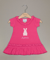 Princess Linens Hot Pink Bunny Personalized Dress - Infant Toddler & Girls