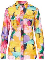 Ralph Lauren Petite Cotton-Silk Voile Shirt