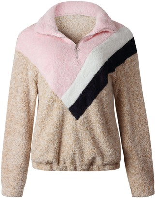 Goodnight Macaroon 'Eunica' Multi-Colored Fleece Pullover