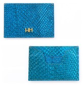 Aitch Aitch The Abigail Cardholder in Teal with Brass Hardware