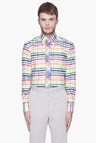 Thom Browne Multicolor rainbow oxford check shirt