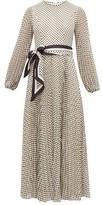 Zimmermann Sunray Pleated Polka-dot Chiffon Dress - Womens - Black Cream