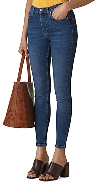 Whistles Sculptured Skinny Ankle Jeans