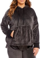 Donna Karan Plus Velour Lounge Hoodie