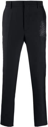 Fendi floral-jacquard tailored trousers