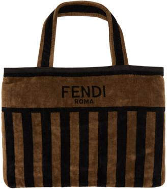 Fendi Brown and Black Convertible Towel Tote