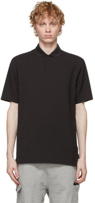 Ermenegildo Zegna Black Cotton Crepe Polo