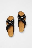 French Connenction Suede Eyelet Sandals