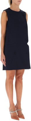 Stella McCartney Button-Detailed Shift Dress