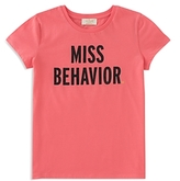 Kate Spade Girls' Miss Behavior Tee - Big Kid
