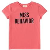 Kate Spade Girls' Miss Behavior Tee - Big Kid