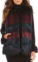Gianni Bini Anna Multicolor Faux Fur Vest