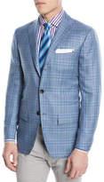 Kiton Plaid Cashmere-Blend Two-Button Sport Coat
