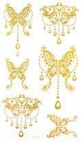 Latest hot selling and fashionable tattoo sticker product dimension 6.69x3.74 jewelry butterfiles en realistic temporary tattoo stickers by InterRookie