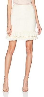 Nanette Lepore Women's Short Skirt Double Ruffle Hem
