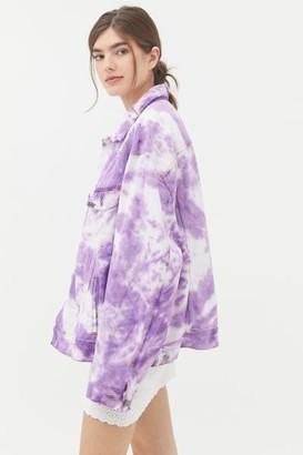 Urban Renewal Vintage Recycled Bleach Tie-Dye Denim Jacket
