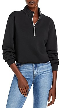 Pam & Gela Half Zip Cropped Sweatshirt