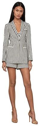 BCBGMAXAZRIA Striped Blazer (Black Combo) Women's Clothing