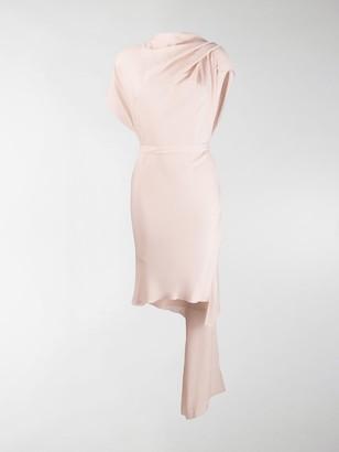 Poiret Draped High Neck Dress