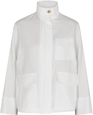 Vince White cotton-twill jacket