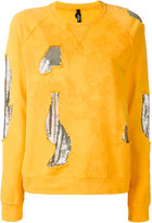 Versus mesh insert distressed sweatshirt - women - Cotton/metal - XS