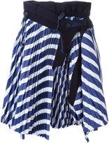 Sacai micro pleated skirt - women - Cotton/Cupro - 2