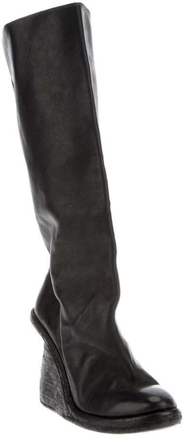 Guidi long platform boot