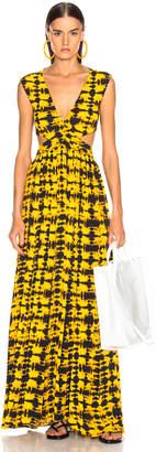 Proenza Schouler Tie Dye Maxi Dress in Yellow & Black   FWRD