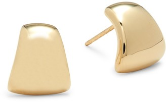 """Saks Fifth Avenue 14K Yellow Gold Wrap Hoop Earrings/0.4"""""""