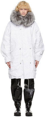 Mr & Mrs Italy White Nick Wooster Edition Crinkled Parka