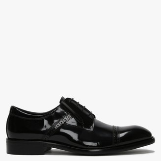 Daniel Xlol Black Patent Leather Lace Up Brogues