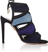 Aquazzura Women's Vika Suede Sandals-BLUE, BLACK, NAVY