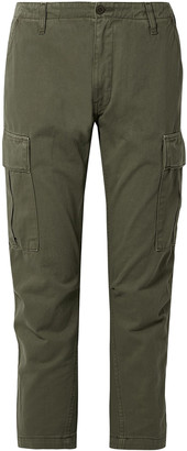 RE/DONE Cropped Cotton-twill Tapered Pants