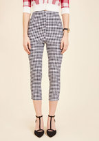 Hell Bunny Jive Got a Feeling Pants in Black Gingham in XL