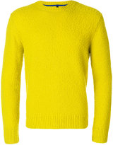 Santoni elbow patch cashmere jumper