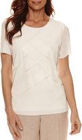 Alfred Dunner Short Sleeve Crew Neck T-Shirt