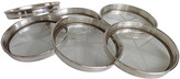 One Kings Lane Vintage Sterling & Cut Glass Coasters - Set of 6 - Debra Hall Lifestyle - silver/clear