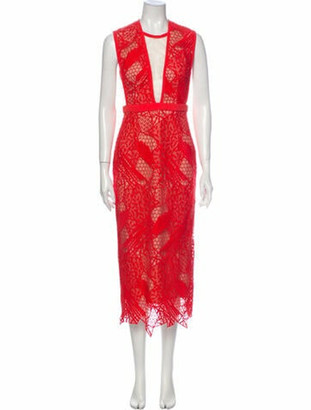 Manning Cartell Australia Lace Pattern Long Dress Orange