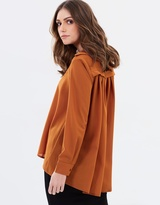 Privilege Camilla Pleated Back Shirt
